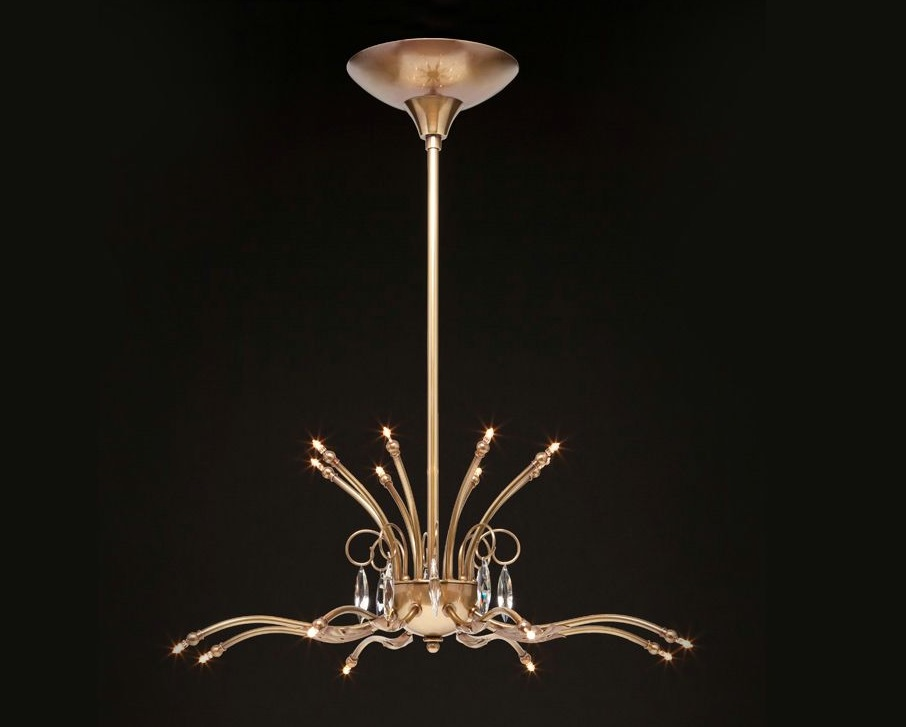 BD Design kroonluchter brons Leaf