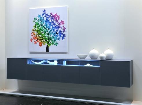 Dividi hangend tv-dressoir   Hoogebeen Interieur: www.hoogebeen.nl/producten/tv-meubels/dividi-hangend-tv-dressoir