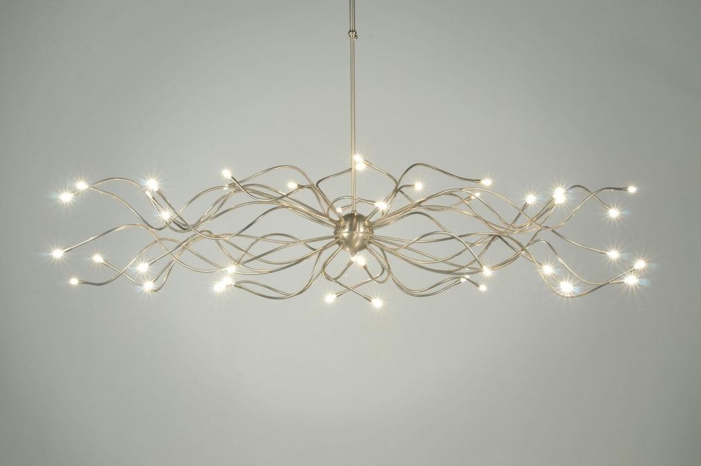 Lampadaire Hanglamp 40-lichts RVS