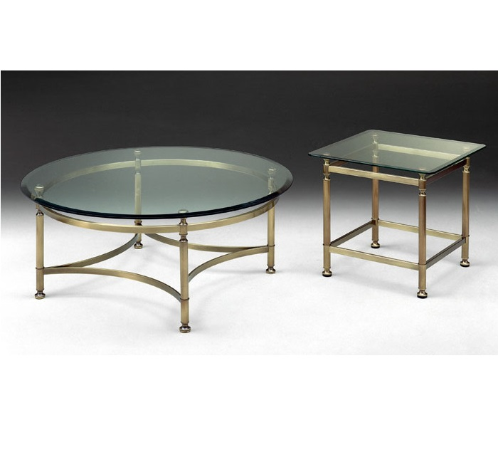 Select design ronde salontafel glas brons hoogebeen - Salontafel ...