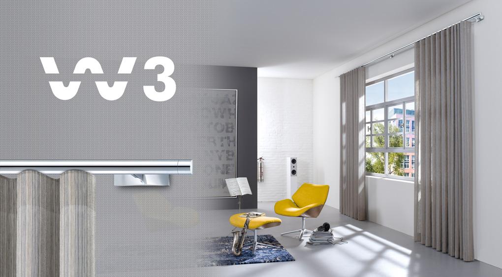 Interstil design gordijndrager W3