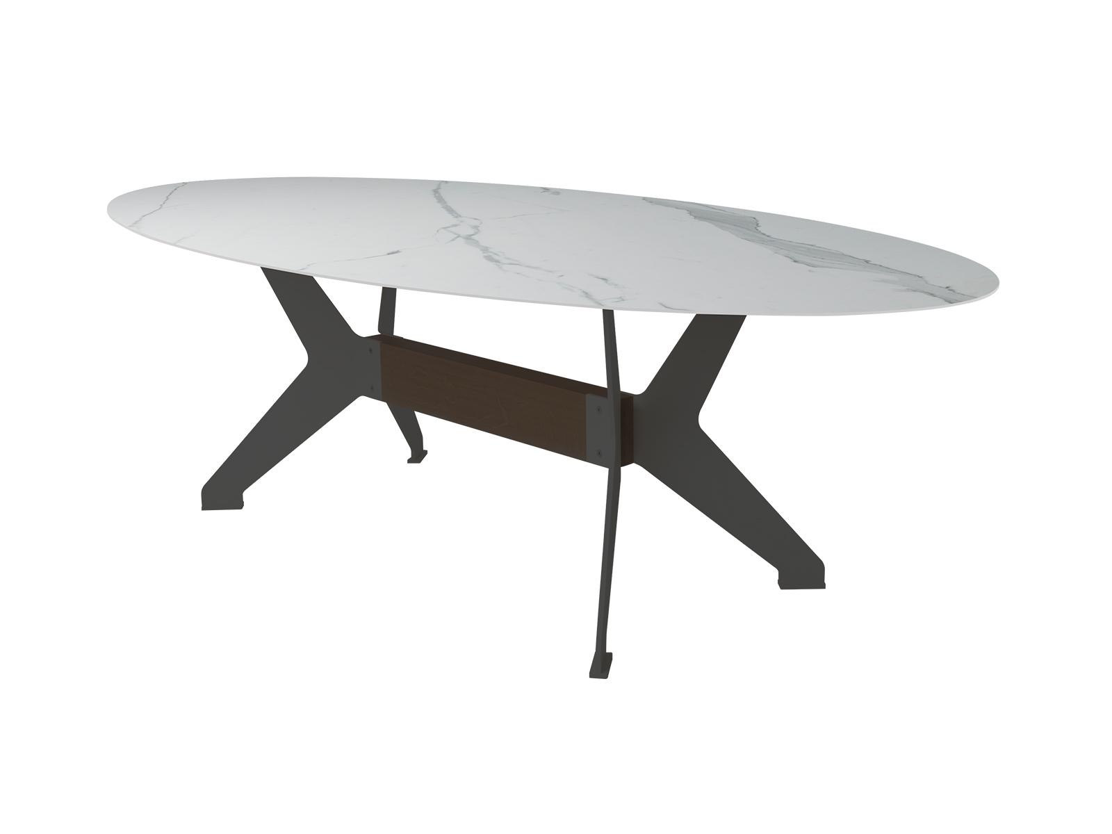 Bert Plantagie Bixx ovale keramiek tafel