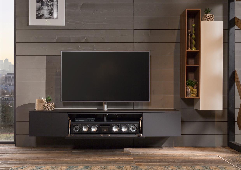 zwevend tv meubel met soundsystem