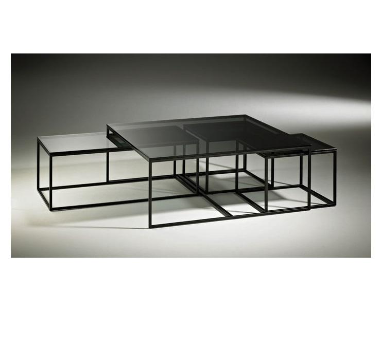 Select Design Rubix salontafel rookglas