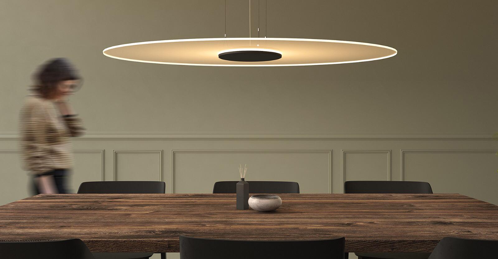 Ferrolight Ghost Disc hanglamp Ovaal