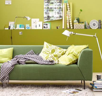 Rolf Benz Linea sofa green