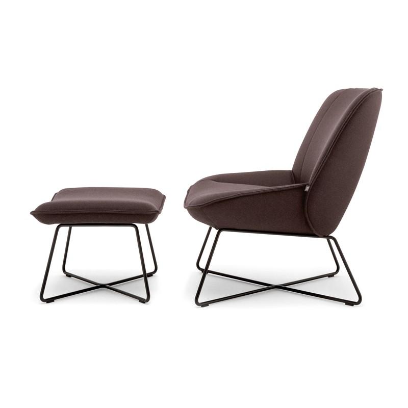 Rolf Benz 383 fauteuil stof