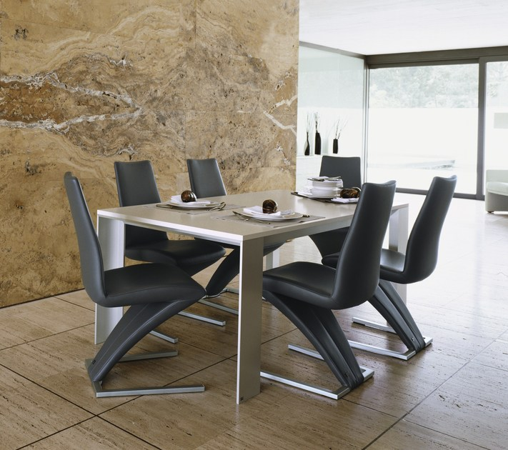Rolf Benz Dining Chair Black Leather