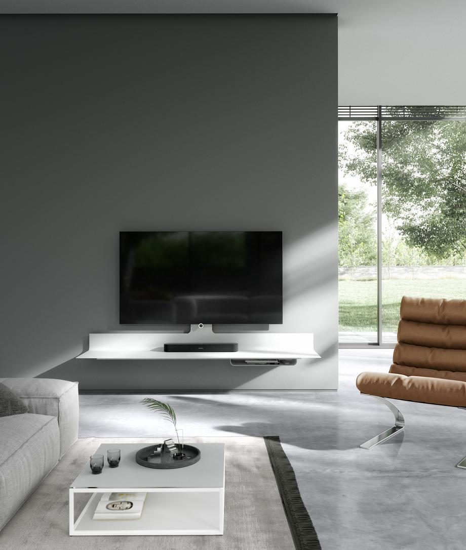 Spectral Air floating tv cabinet white