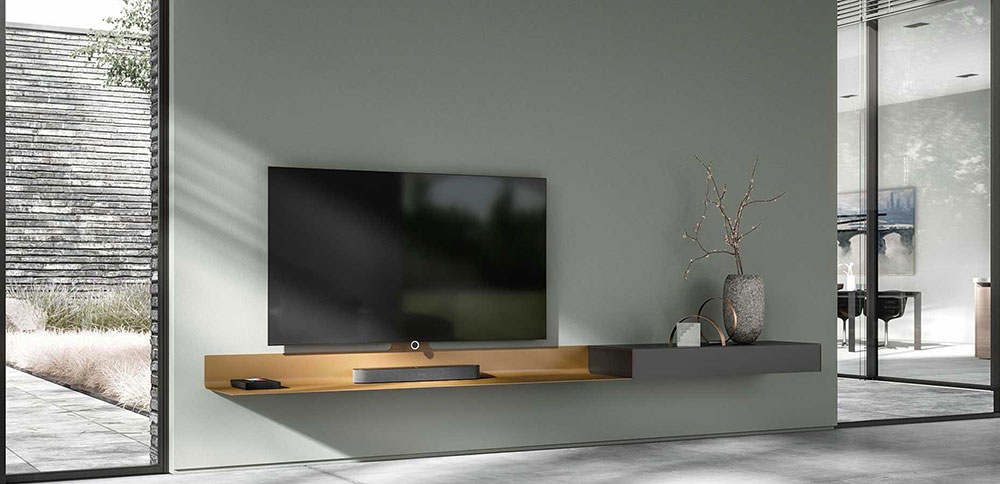 Spectral air hanging tv cabinet